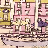 Canvas grote huizen_