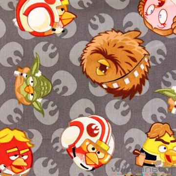 Angry Birds op grijze achtergrond