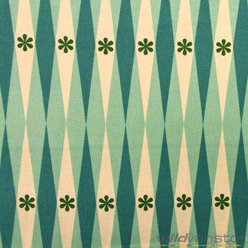 Bloem ruiten groenblauw
