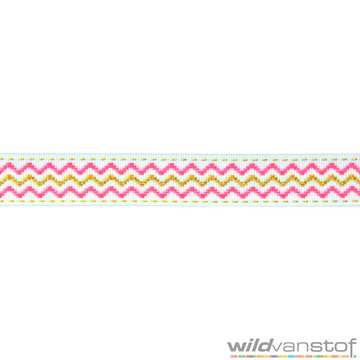 Goud-fluoroze zigzag sierband