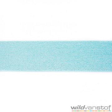 Glitter elastiek 5 cm - blauw