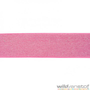 Glitter elastiek 5 cm - fuchsia