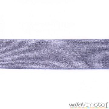 Glitter elastiek 5 cm - jeans