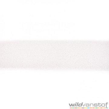 Glitter elastiek 5 cm - gebroken wit