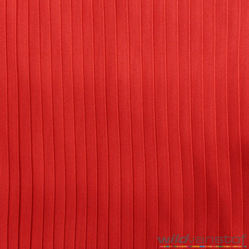 Plissé 10mm - rood