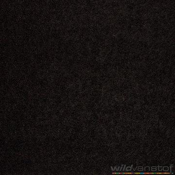 Mantelstof wol zwart