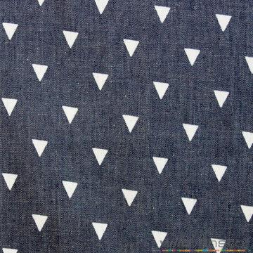 Lichte jeans met witte driehoek