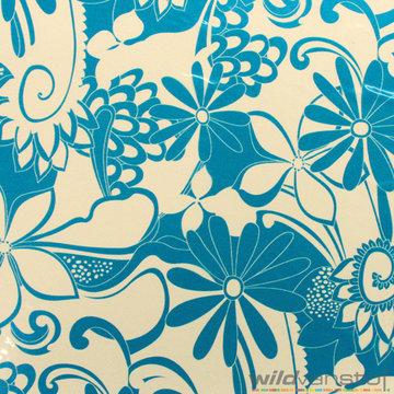 Plastic bloemen blauw