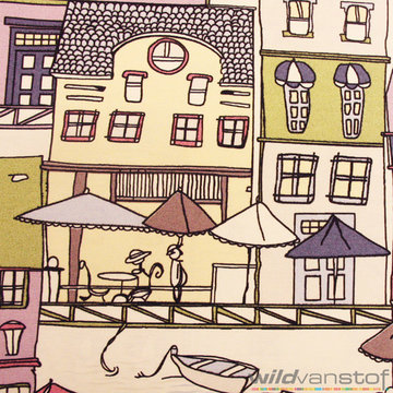 Canvas grote huizen