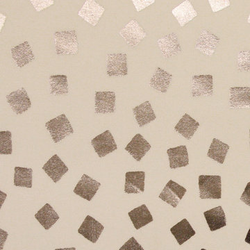 Zilveren confetti op ecru
