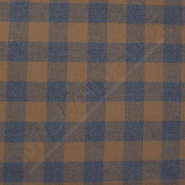 Vierkanten bruin-blauw