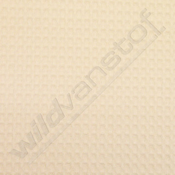 Gewafeld katoen wit