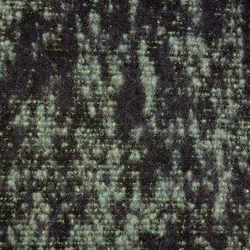 Mantelstof groen-zwart