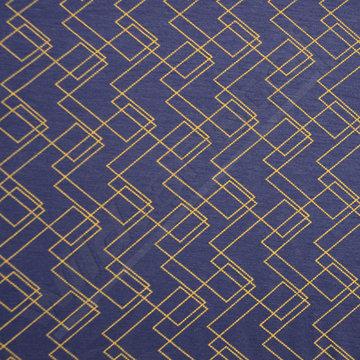 Geometrische strepen blauw