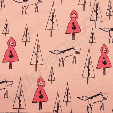 Roodkapje in het bos