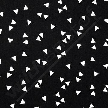 Witte driehoekjes op zwart