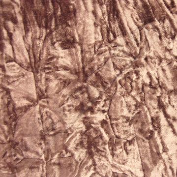 Velvet crincle bruin-grijs