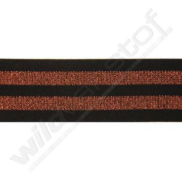 Elastiek strepen zwart-brons