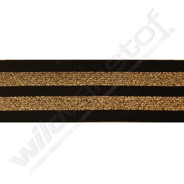 Elastiek strepen zwart-goud