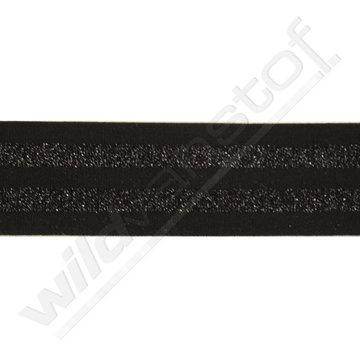 Elastiek strepen zwart-zwart