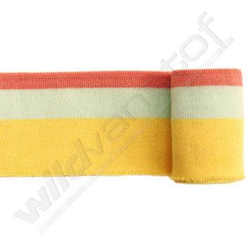 Boord strepen - Roze, munt en geel