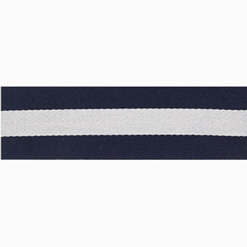Lint strepen donkerblauw-wit