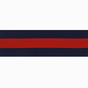 Lint strepen donkerblauw-rood