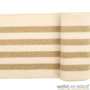 boordstof bord tricoté boord stoffen online kopen glitter band goud zilver gold silver or argent