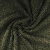 Wol - Gebreide groene- beige double face_