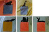 Stoffenpakket - Wild animal blauw-oker_