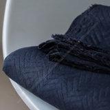 Organic chevron quilt - Dark Navy_