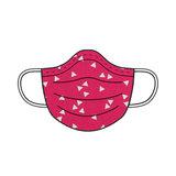 Stoffenpakket - Mondmasker met motieven + rekker (10 stuks)_