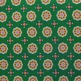 Viscose - Fijn bloemenpatroon op groen_
