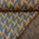 Jacquard tricot - zigzag geel-blauw_