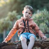 Boordstof - Playtime Pecan brown_