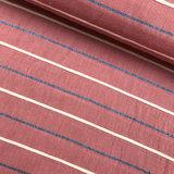 Katoen - Roze met lijnen en lurex_