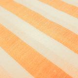 Katoen - Fibremood strepen warm geel-wit met zilver detail_