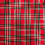 Katoen - Schotse ruit  rood 320_
