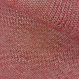 Wol - Subtiele zigzag rood blauw ecru_