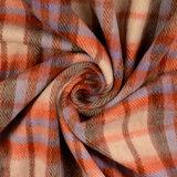 Mantelstof - Carreaux rood-paars-beige_