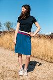 Glitter boord strepen - Ecru, roze, blauw en rood (1,20m)_
