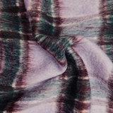 Mantelstof - Carreaux groen lila_