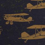 Sweater - Retrovliegtuig op nachtblauw_