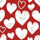 Sweater - Rood met gestempelde harten_