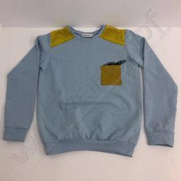 Stoffenpakket - Wild animal blauw-oker