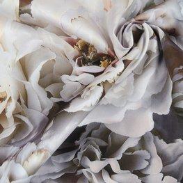 Grijze en ecru fotografische bloemen