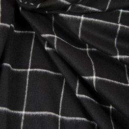 Wol - Zwarte met witte raster