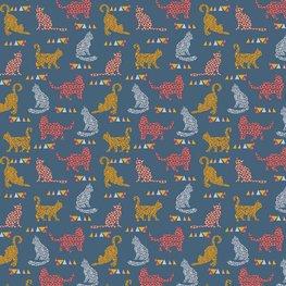 Sweater - Blauw met feestvierende kat