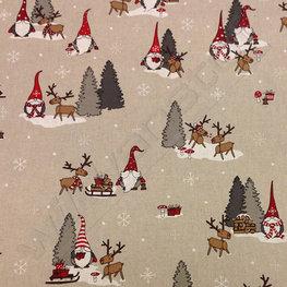 Canvas - Kerstman en rendier