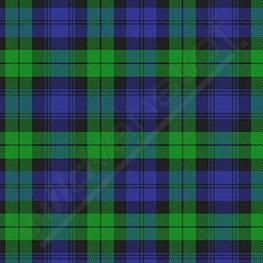 Lycra - Schotse ruit groen-blauw